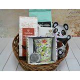 Подарочная корзина с чаем, кофе и кружкой