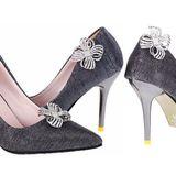 Клипсы на туфли декоративные с жемчугом