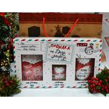 """Подарок на Новый год  """"Посылка от Деда Мороза"""" из чая, кофе и меда."""