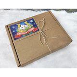 """Подарок на Новый год """"Мышка"""" с чаем, марципаном и пряностями"""