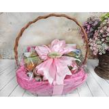"""Подарочная корзина с гравировкой """"Для неё"""" с чаем и сладостями"""