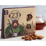 Подарок на 23 февраля с чаем и орехами для мужчин