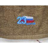 """Подарок на 23 февраля полотенце """"в бутылке"""""""