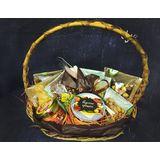 Корзина из орехов и сухофруктов с мёдом