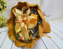 Оформление букет, цвет каппучино гофр (без открытки)