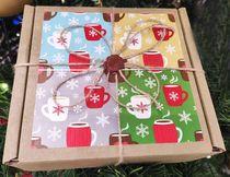 Коробка Новогодняя с сургучной печатью разные размеры