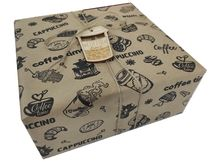 Оформление коробка для кофейного подарка - разные размеры