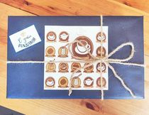 """Коробка разные размеры Синяя """"С днём рождения"""""""
