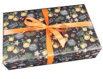 Оформление Коробка Новогодние мандарины разные размеры