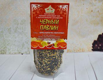 Чай черный с корицей, лимоном и хризантемой 50 г.