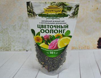 Чай оолонг с розой, лимоном и сафлором 50 г.