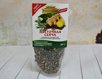 Чай зелёный с имбирем и солодкой 50 г.