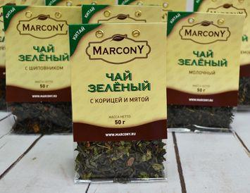 Чай зелёный с корицей и мятой 50 г.