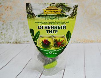 Чай зеленый связанный и фигурный элитный Огненный тигр 50 г.