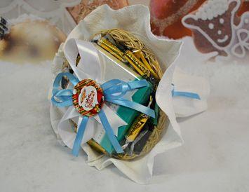"""Новогодний букет подарок из чая """"Счастливого Нового Года"""""""