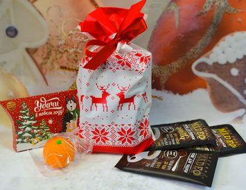 """Пакет с оленями """"Новогодний подарок"""""""