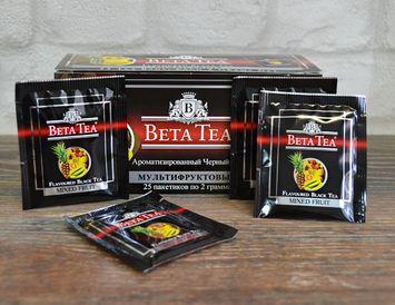 Пакетированный черный Бета чай Мультифруктовый