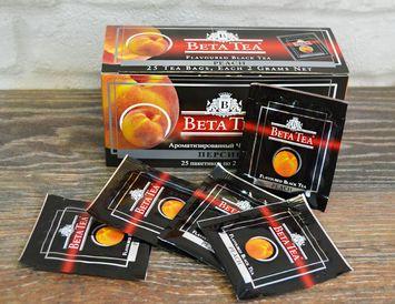 Пакетированный черный Бета чай Персик