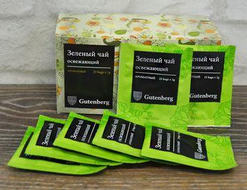 Пакетированный зеленый чай освежающий
