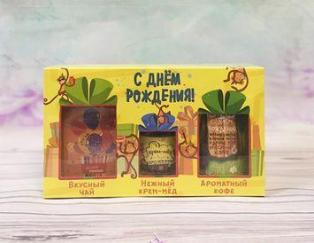 Подарочный набор на День рождения из чая, кофе и мёда