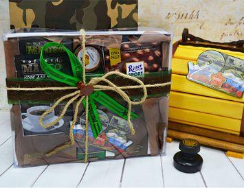 """Подарок на 23 февраля """"Чай, кофе, шоколад"""""""