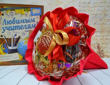 """Подарок учителю букет из чая и кофе """"Спасибо Учителям"""""""