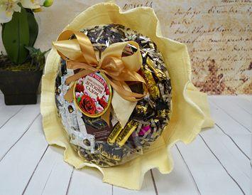 Подарок заведующей детского сада букет из чая и кофе
