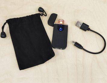 Электронная USB - зажигалка с экраном