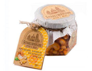 Грецкий, кешью и кедровые орехи в меду 130 г.