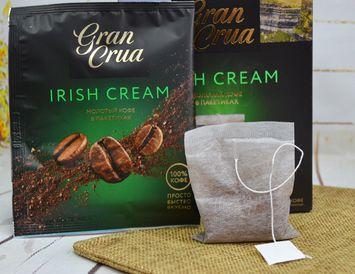 Кофе молотый  в пакетиках Irish Cream 9 г. для заваривания в чашке
