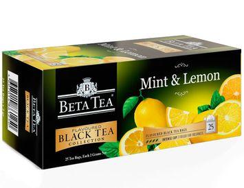 Пакетированный черный чай Мята - Лимон
