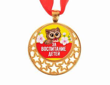 """Медаль """"За воспитание детей"""" металлическая"""