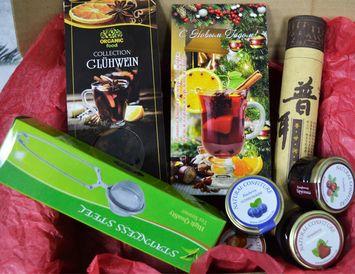 """Новогодний подарок  """"Удобный""""  с чаем для ценителей вкуса"""