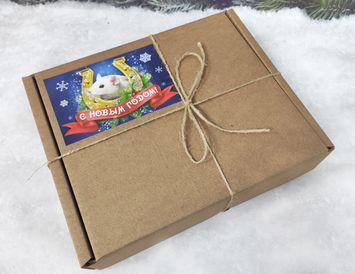 Оригинальный подарок на Новый год с чаем и специями для глинтвейна