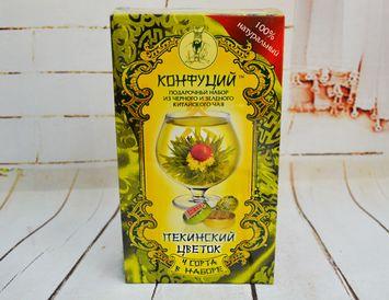 """Подарочный набор из 4 видов чая """"Пекинский цветок"""" 80 г."""