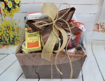 Подарочный набор с чаем и кофе в поддоне
