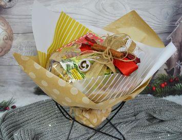 Подарок букет из чая  БЕЗ конфет