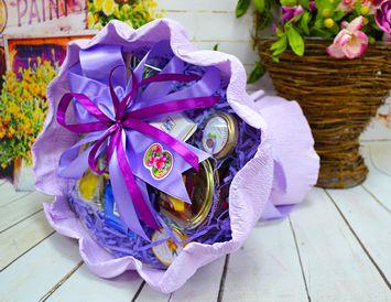 """Подарок на 8 марта букет  из чая и кофе """"Весенний праздник"""""""