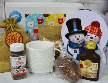"""Подарок на Новый год """"Уютный"""" с чаем и мёдом"""