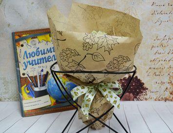 """Подарок учителю Букет из чая и конфет """"Осенний"""""""