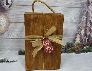 """Подарок на новый год в деревянном сундуке """"Премиум"""""""