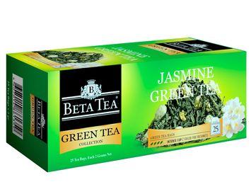 Пакетированный зелёный чай с жасмином