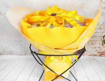 """Букет с чаем """"Желтый цветок"""""""