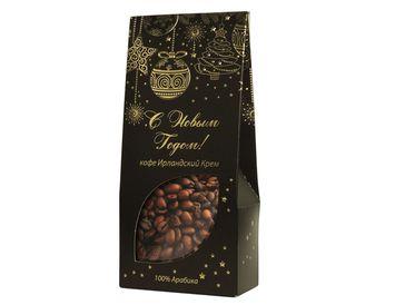 Кофе в зернах Новогодний Ирландский крем 100 г.