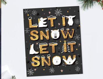 """Открытка """"Let it snow"""""""