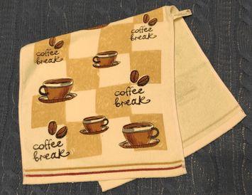 """Полотенце кухонное махровое """"Кофе"""""""