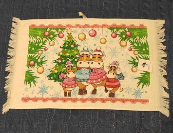 """Полотенце Новогоднее для рук """"Семейка"""" 40х60 см."""