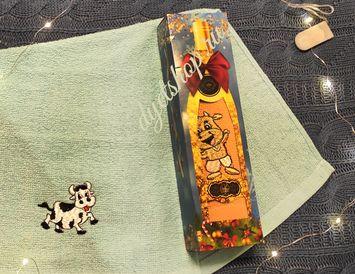 Полотенце в бутылке Новый год