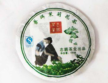 Чай Шу пуэр Бин Ча с жасмином 92-100 гр.