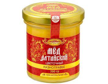 Мёд алтайский Разнотравье 200г. - 2020 г.